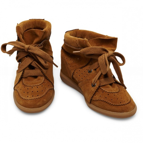 ISABEL-MARANT-Bobby-Dark-Brown-Suede-Wedge-Sneakers